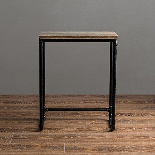 Lzz Style Industriel rétro Salon canapé Un Quelques créatif Simple en Fer forgé Table à thé en Bois Table Basse canapé côté Tuyau Fer Table de téléphone (Taille : 57 * 45.5 * 30.5cm)