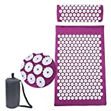 TOUARETAILS Pain Relief Acupressure Exercise Mat and Pillow Set for Back and Neck Pain Relief, Full Body Yoga Acupuncture Mat Cushion for Sciatica,Trigger Point Therapy and Muscle Relaxation 68 X 42CM back support chairs May, 2021