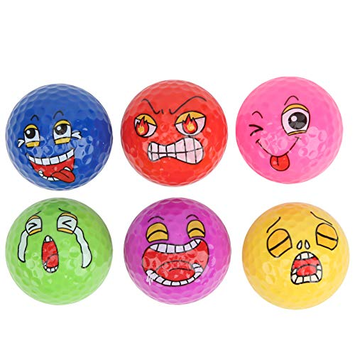 awstroe Golf Balls | 6Pcs Mini Funny Golf Ball,Children Training Balls Bulk, Well‑Made Practice Golf Balls for Kids/Beginner,Lightweight,Strong, Durable.