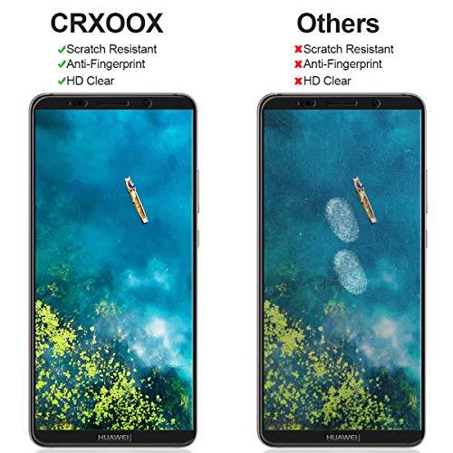 CRXOOX 2 Stück Panzerglas Schutzfolie für Huawei Mate 10 Pro Panzerglasfolie - 9H Härte Glas Displayschutzfolie Case Friendly, Anti Fingerprint Ultra Dünn HD Blasenfrei Einfache Montage Folie - 4