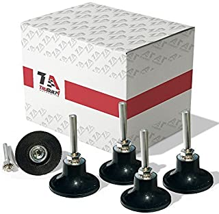 T1A 5 Pack of 2 inch Conditioning Disc Pad Holder Assembly, 1/4'' Shank, Speed-Lok TR Quick-Change Attachment, Compatible with 3M ROLOC Scotch-Brite Brand Discs, T1A-ROLOC-2IN