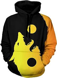 wolf print hoodie