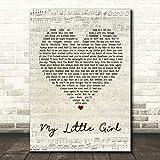 My Little Girl Script Heart Quote Song Lyric Wall Art Gift Print