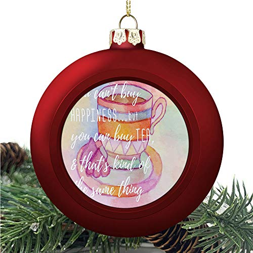 aosup Tea Party Happiness/Christmas Ball Ornaments 2020 Christmas Pendant Personalized Creative Christmas Decorative Hanging Ornaments Christmas Tree Ornament №AM030886
