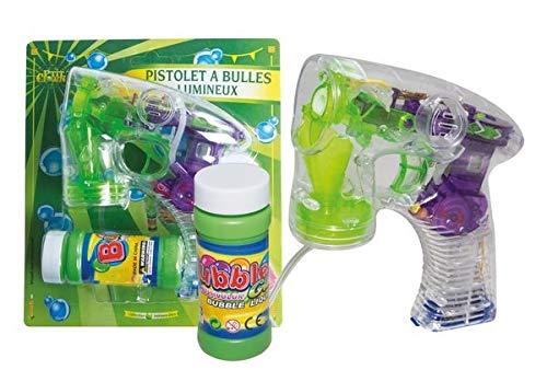 P'tit Clown- Pistolet à bulles avec liquide (50 ml) - lumineux, Unisex-Child, 41668, Taille Unique