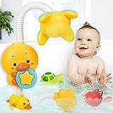 Tacobear Juguetes de Baño para Bebés Eléctrico Pato Rociador de Agua Aspersor Juguete con 3 Animales Flotantes Juguetes Bañera Juegos de Ducha Regalos para Niños
