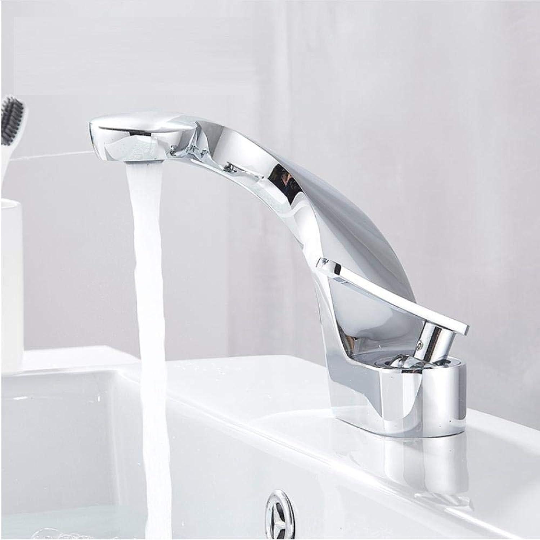 Wasserhahn Einhand-Counter-Top Waschbecken Badarmaturen aus massivem Messing Mixer Wasserhahn Para Badezimmer