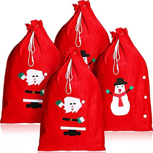 48 Sacos de Papá Noel de Navidad Bolsas de Santa Saco de...