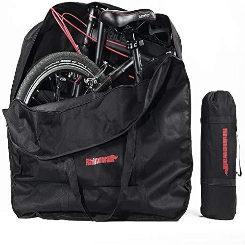 GZYM 20-Zoll-Faltrad Reisetasche Stopfbarer Fahrradaufbewahrung Tasche für Flugzeug-Auto-Zug Trip, einschließlich Einer kleinen Aufbewahrungstasche