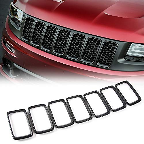 JeCar Grille Inserts Clip-on Grill Cover Trim Kit for 2014-2016 Jeep Grand Cherokee, Black