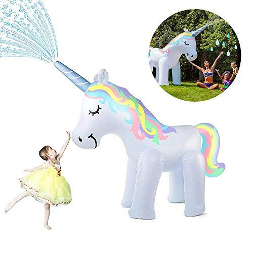 penban Unicorn Sprinkler Inflatable Water Toys for Outside, Kids Water Sprinklers for Backyard,Fun Sprinkler for Kids (Unicorn Sprinkler 5.3 ft High)