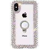 Yobby Cover per iPhone 6/6S,3D Brillantini Glitter Custodia con Anello Supporto,Cristalli Strass Diamante Ragazza Donna Trasparente Protettiva Case per iPhone 6/6S-Colorato