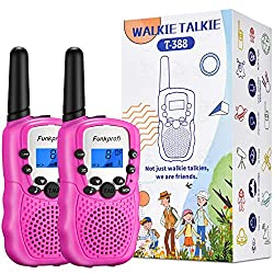 Funkprofi Walkie Talkies for Kids, Long Range 22 Channels HD Sound Two Way Radios with Belt Clip and Flashlight, Birthday Toy Gift for Boys & Girls Age 3-12 Years Old, Suitable for Outside Adventures