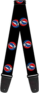 Buckle-Down 2 Inches Wide Guitar Strap - Steal Your Face Repeat Black/Color (GS-WGD017)