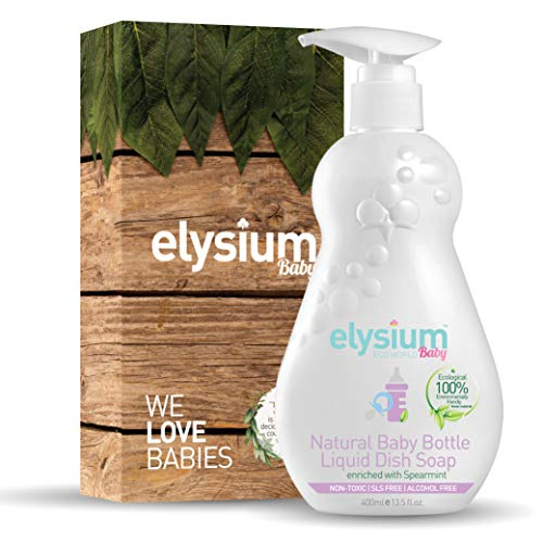 Premium Natural Baby Bottle Liquid Dish Soap by Elysium Eco World: Superior Baby Bottle and Pacifier Cleaner - Disinfect with this Natural Antibacterial, Non-Toxic, Ecological Formula.