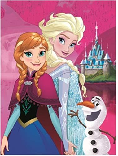 Frozen Eiskönigin Decke XXL Kuscheldecke Anna und ELSA Tagesdecke 150 x 200 cm (Pink, 150 x 200 cm)