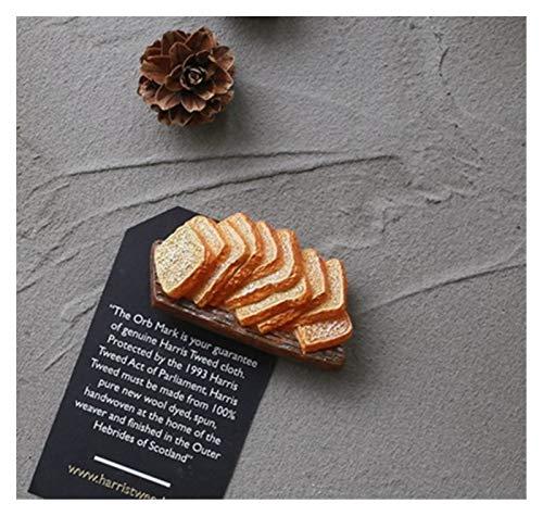 JSJJAWS Imanes Nevera Imán imán Artificial Comida refrigeradora imán de Pan Huevo Huevo Verduras magnéticas Decoraciones caseras re-Regalo Regalos Accesorios para el hogar Regalo (Color : Toast 1)