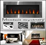 XXL Gel Fireplace Model Sydney / Stainless Steel / for Bio-Ethanol or Gel