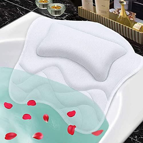 MCKEYEN 욕조 베개 컴포트 5D 에어 메쉬 욕조 베개 베개 헤드 레스트 5 강 및 뒷면 및 목 지원 모든 욕조 온수 욕조 홈 스파