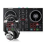 Numark Party Mix II + HF 125 - Set de DJ, Controlador DJ con mezclador DJ para Serato DJ Lite y luces integradas + Auriculares de DJ Profesionales