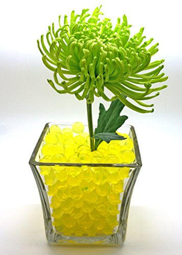 Blinggasm 2 Ounce Pack, Almost 4,000 Water Jelly Beads, For Kids Tactile Sensory Experience, Wedding Centerpiece Vase Filler, Plant decoration, Choose Your Color (Yellow)