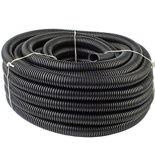 "225FWY 50 Feet Ft. 1/2"" 13mm Black Split Loom Conduit Polyethylene Tubing"