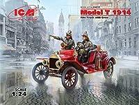 ICM 1/24 T型フォード 1914 消防車 w/クルー プラモデル 24017