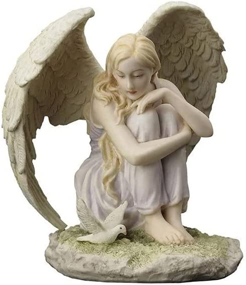 5.12 Inch Oklahoma City Mall Poly Stone Our shop most popular Angel Sitting Figurine at Looking Dove Stat