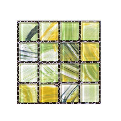 Liqiqi – Adhesivo Decorativo para Pared con Mosaico, Azulejos, Azulejos, Azulejos, Azulejos, decoración para la Cocina, el baño, Resistente al Agua, Papel Pintado Desmontable, 20 Unidades, 10 x 10 cm