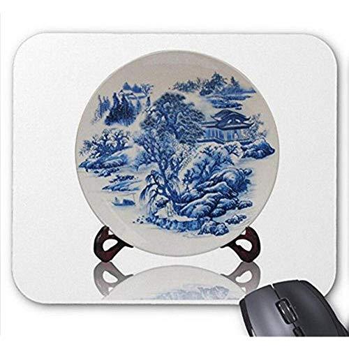 Mouse Pad St Jingdezhen Keramik Glasur Pulver Emaille Vase Mit Blauen Und Weißen Porzellan Dekorative Blumenteller Haushalt Handwerk Muster Mauspad Mousepad Gaming Matte 25X30 Cm