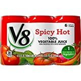 V8 Spicy Hot 100% Vegetable Juice, 5.5 oz. Can (Pack of 48)