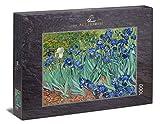 Ulmer Puzzleschmiede - Puzzle Van Gogh, Irisis - Puzzle de 1000 Piezas - Lirios Frente a un Colorido Prado de Flores (Van Gogh, Saint-Rémy, 1889)