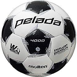 モルテン(molten) サッカーボール 5号球 中学生以上 検定球 ペレーダ4000 F5L4000 ホワイト×メタリックブラック F5L4000