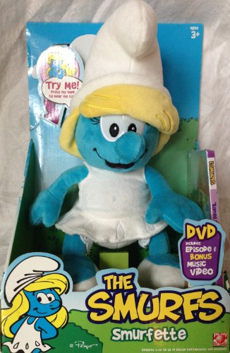 Smurfs Smurfette 12' Plush with Sounds and DVD