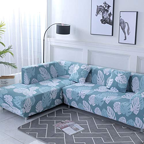 ASCV Funda de sofá Funda de sofá elástica Funda de sofá para Sala de Estar Funda de sofá de Esquina en Forma de L Chaise Longue A6 2 plazas