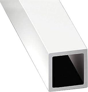 Jardin202 16 mm - Perfil de Aluminio Blanco - Tubo Cuadrado - x3 unds - 2'10m