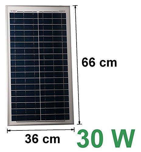Solarmodul 12V 30W Solarpanel Solarzelle Polykristallin Photovoltaik Solar