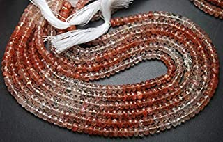 Jewel Beads Natural Beautiful jewellery 14 Inch Strand,RARE Quality,AFRICAN Sunstone Faceted Rondelles,5-5.5mm size,Code:- JBB-39128