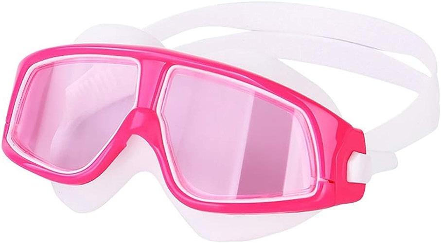 I will take action now Lunettes de natation Enfants filles imperméables et anti-buée qui placent des lunettes de bain étudiante grande Boîte, galvanoplascravate rose, bleu galvanoplascravate, rose transparent