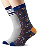 Scotch & Soda Classic Socks In Colourful Patterns Calcetines, Multicolor (Combo C 0219), 39/42 (Talla del fabricante: 39-42) para Hombre