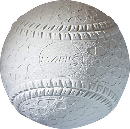 Daiwa Maruesu 15910S Boys Baseball Soft Ball Official Ball J (For Elementary School Students), 1 Dozen White