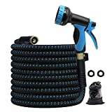 """25ft Garden Hose, All New 2020 Expandable Water Hose with 3/4"""" Solid Brass"""
