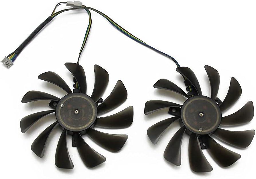 2pcs / Lote 95mm FDC10U12S9-C CF1010U12S Reemplace para su AMD Radeon RX 580 590 RX580 RX590 ICEQX2 Turbo Turbo Tarjeta de gráficos Ventilador de refrigeración (Blade Color : Replace)