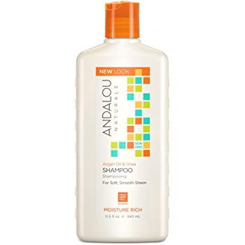 Andalou Naturals Moisture Rich Shampoo, Argan and Sweet Orange, 11.5 Ounce (Pack of 2)