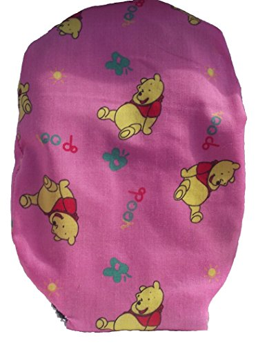 Leerbarer Stoma Cover Ostomy Bag Cover Druckstoff Poo Bär Pink