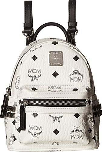 MCM Women's Side Stud Baby Stark Backpack, White, One Size