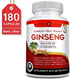 Best Ginsengs - 180 Capsules-Korean Red Panax Ginseng Extract-1000mg High Ginsenosides Review