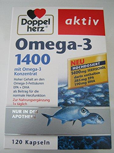 Preisvergleich Produktbild Doppelherz Omega-3 1.400 Kapseln