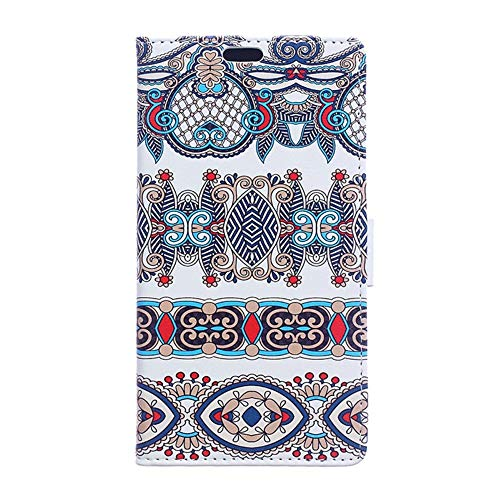 CoverKingz Handyhülle für Xiaomi Mi Mix 2S - Handytasche mit Kartenfach Mi Mix 2S Cover - Handy Hülle klappbar Motiv Pattern 2