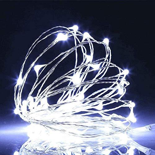 WANGJUNXIU String Lights Led Fairy Lights 20Leds-100Leds, 2-10m Battery-Powered Garden Lights Rope Lights for Trees Patio Fence Wedding Party Christmas Halloween Decor Halloween String Lights